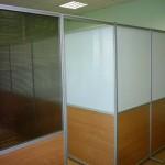 офисные перегородки с раздельным заполнением высота 2200см