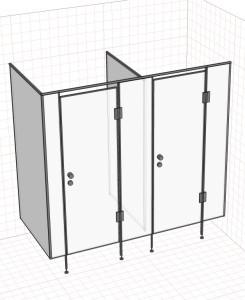 Система сантехнических кабин