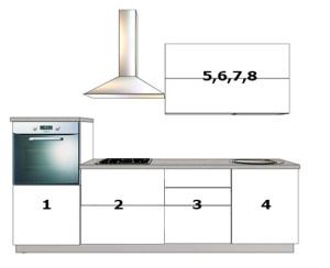 Линейная кухня №4 схема
