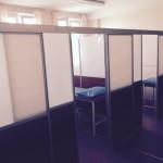 Мобильные перегородки в поликлинике в массажный кабинет