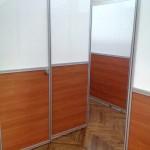 Перегородка с системой раздвижных дверей Минск