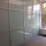 Офисное ограждение стекло матовая пленка