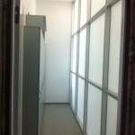 Офисное ограждение внутренняя сторона стекло матовая пленка
