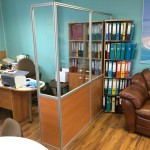 Офисная перегородка без двери эконом