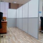 Мобильная перегородка ЛДСП и поликарбонат в офис
