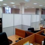 Мобильная перегородка ЛДСП и поликарбонат в офисное помещение