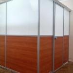 офисные перегородки с раздвижной системой для дверей Мин обл