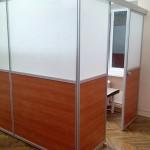 офисные перегородки с раздвижной системой для дверей