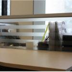Экран настольный стекло с матовой полоской