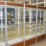Торговые витрины алюминиевые