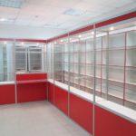 Торговые витрины алюминий и стекло