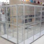 павильоны для торговли стекло и алюминий